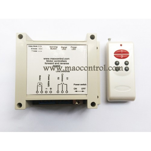 Dc motor controller wireless remote control forward for Dc motor reversing circuit with limit switches